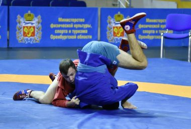 Orenburg, Russia - October 25-26, 2019: Boys competitions Sambo