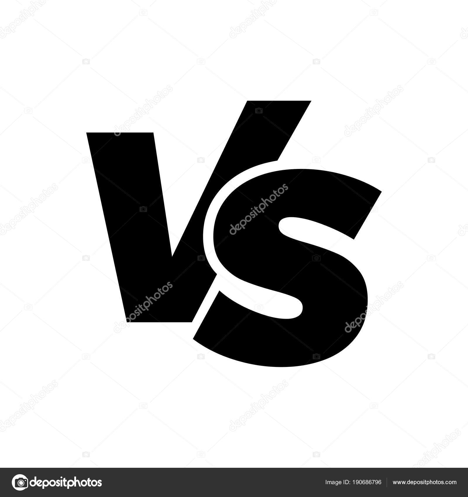 Vs Versus Letters Vector Icon Isolated On White Background Vs