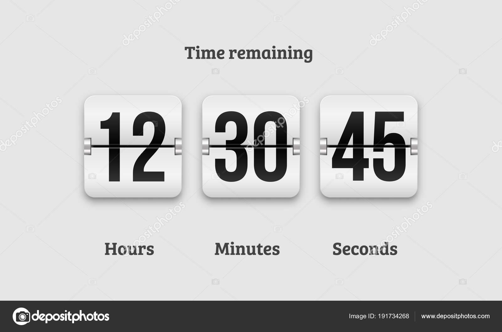 Countdown Clock Flip Counter Vector Digital Timer Stock Vector