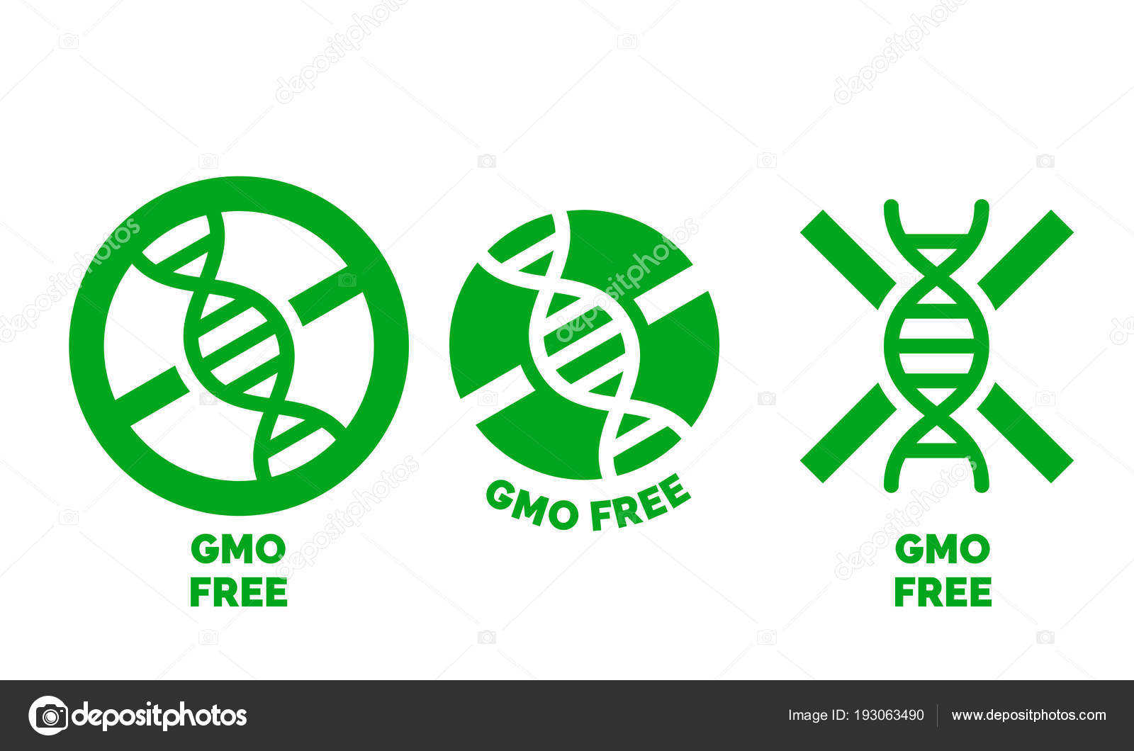 Gmo Free Label For No Gmo Added Product Package Icon Design Template