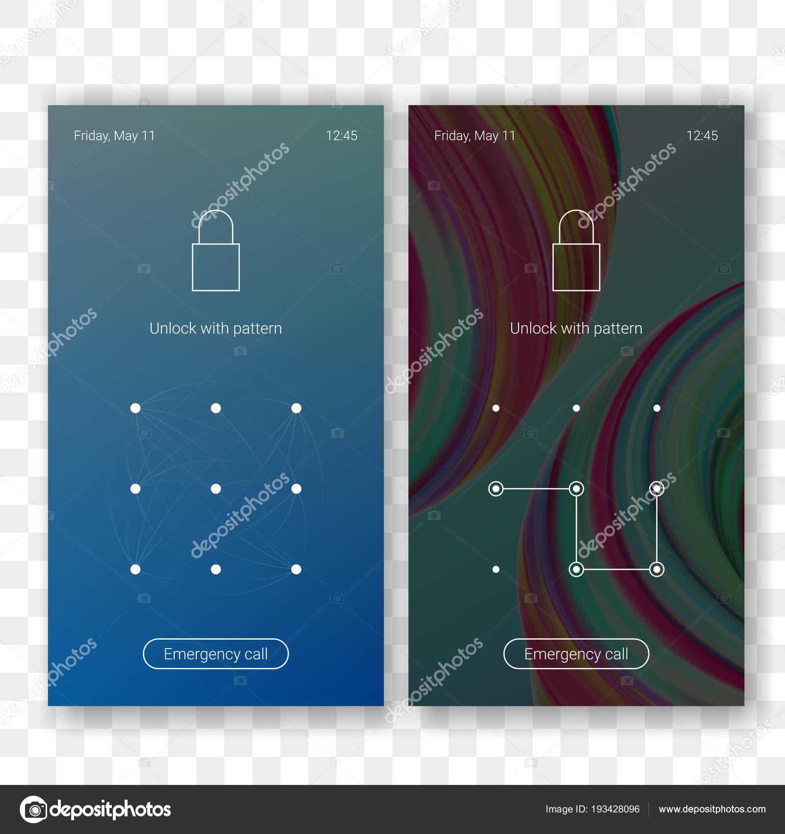 bildschirm sperren muster passwort hintergrundvorlage auf smartphone display vektor bildschirmsperre id erkennung mit muster passwort auf lockscreen - Muster Passwort