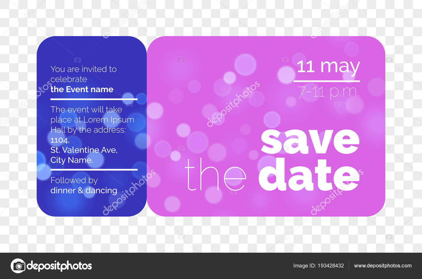save the date wedding invitation vector ticket stock vector
