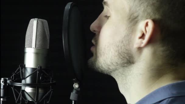 Photo Microphone in a recording studio