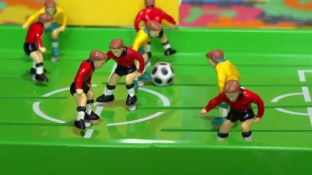 Mesa De Futbol Juego De Mesa Para Ninos Lenta Video De Stock