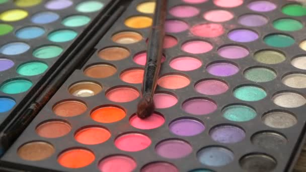 Palette for professional make-up, close-up