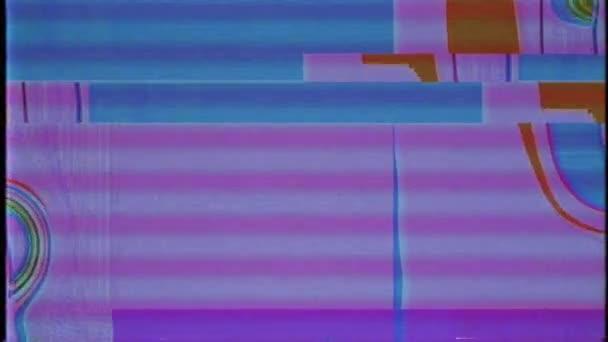 VHS defekt Rauschen und Artefakte, Pannen von einem alten Band. Störgeräusche statisches Fernsehen VFX. Visuelle Videoeffekte streifen den Hintergrund. Alter Fernseher. Kein Signal. Störgeräusche auf dem Fernsehbildschirm.