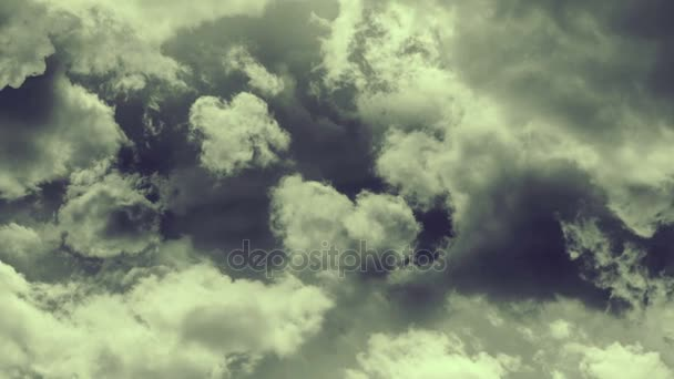 Animation of flying through stormy clouds