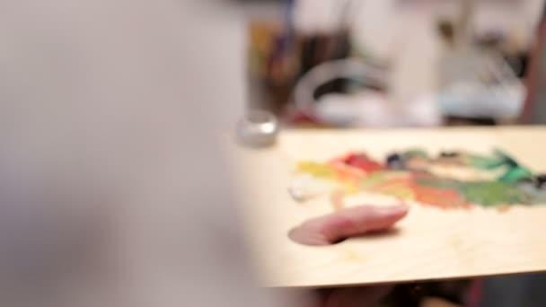 Použití olejovými barvami na plátně abstraktní