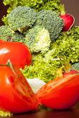 Jiný typ raw zeleniny na stůl