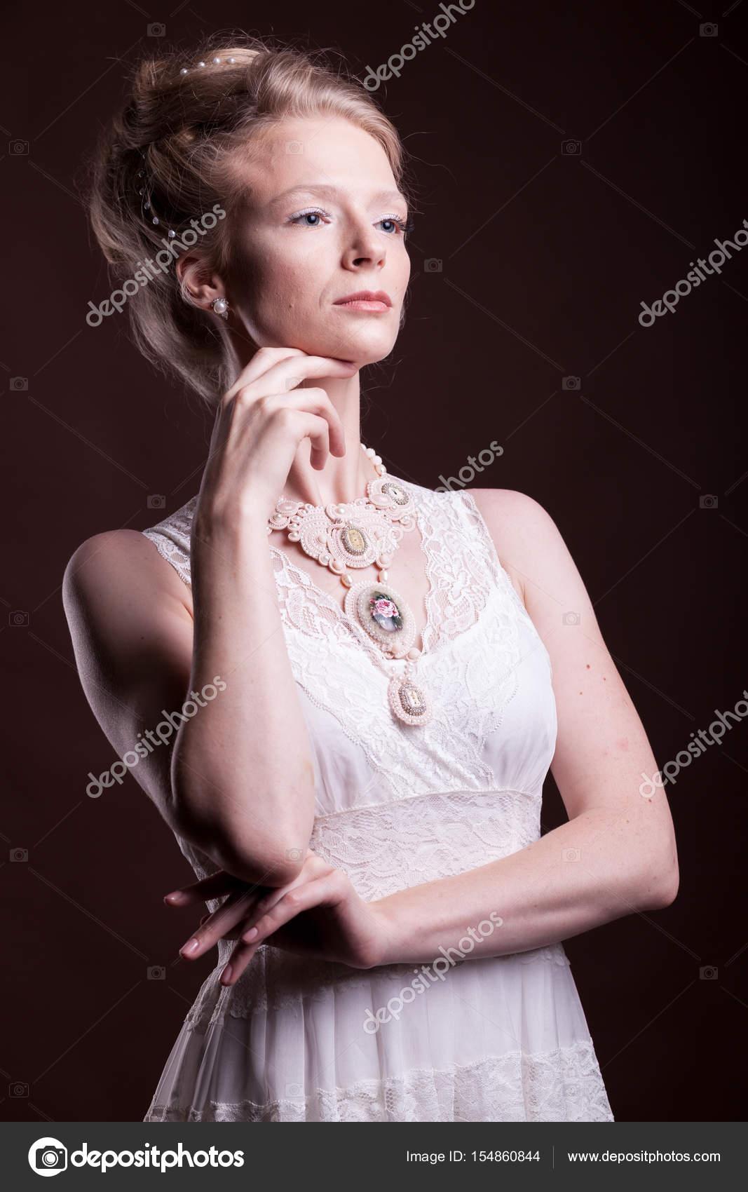 Femme Vintage Belle Portrait Victorienne En La De Robe 0Hqfwtq