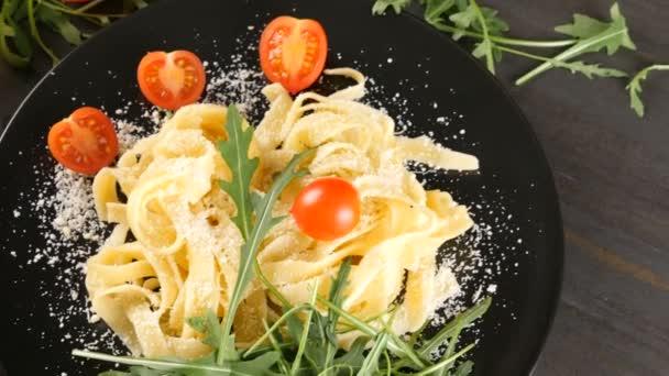 Traditional italian tagliatelle pasta
