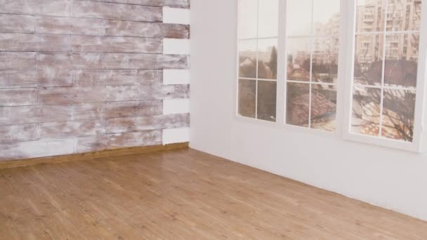 The interior of an empty apartment in a residential building