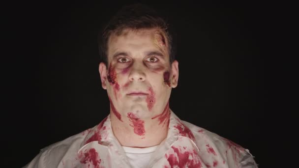 Portrét bělocha se značkou pro halloween