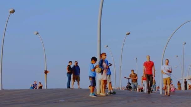 Visitors in Old Tel Aviv Port.