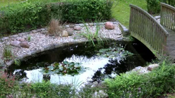 Starý dvůr s rybníkem a most
