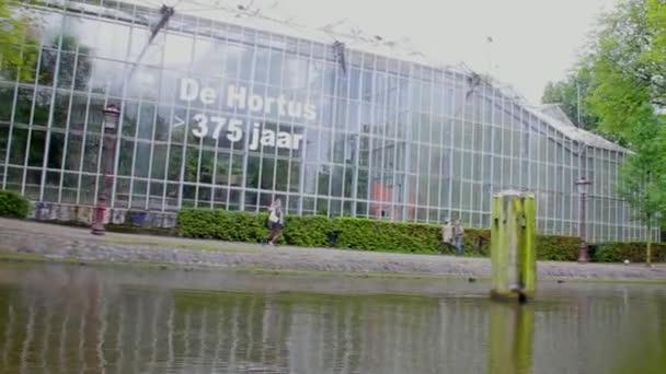 Boot Segel Von De Hortus Botanischen Garten Amsterdam Stockvideo