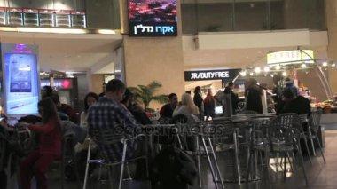 Passengers at Israel's Ben Gurion International Airport, Terminal 3 Departure Hall and Duty-Free Area. Tel Aviv. Israel