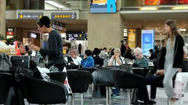 Passengers at Ben Gurion International Airport, Terminal 3, Departure Hall and Duty-Free Area