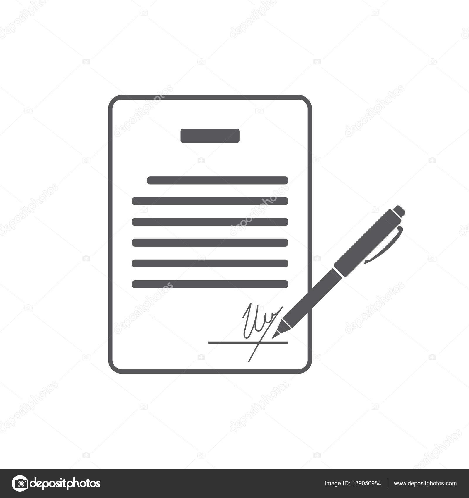 Business Vertrag mit Unterschrift. Abkommen, Pakt, Accord ...