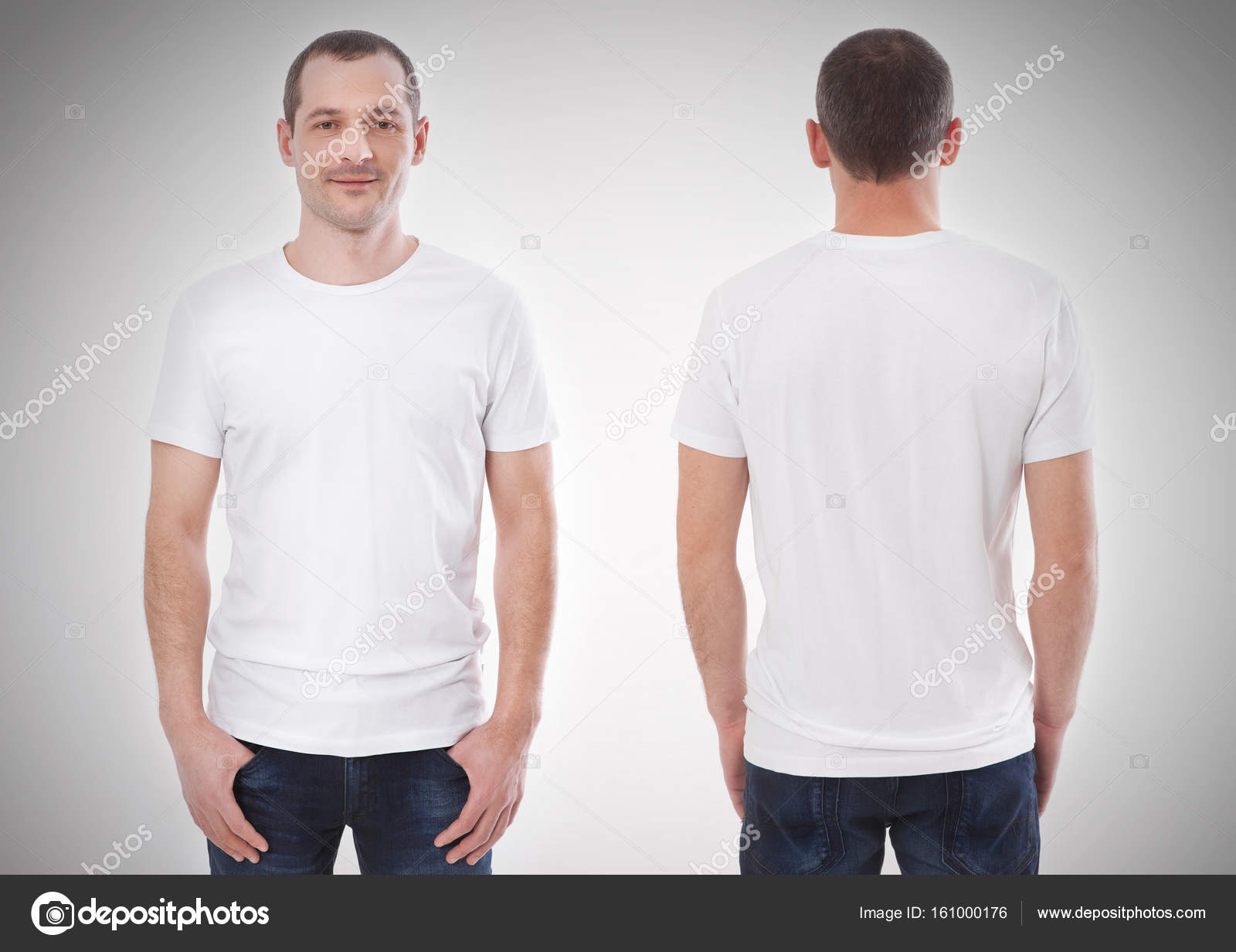 960f02a6 Shirt design and people concept - close up of young man in blank black  tshirt front