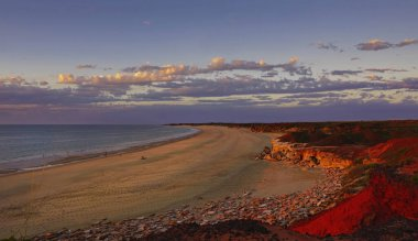 Sunset of Western Australia coastline