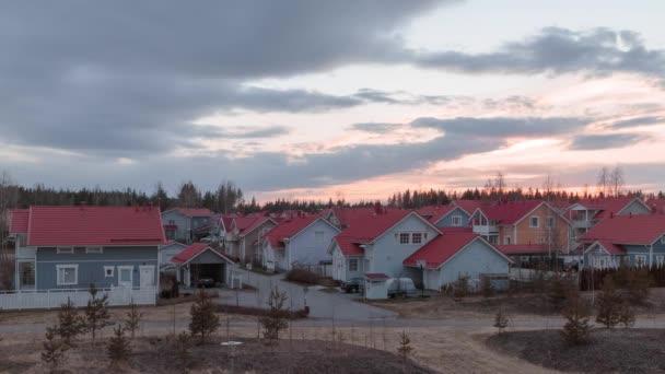 Kerava, Finsko v jarní timelapse video
