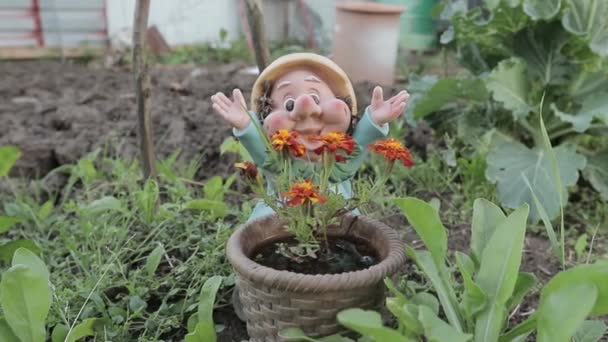 Keramik Garten Gnome — Stockvideo © PavelTalashov #167712002
