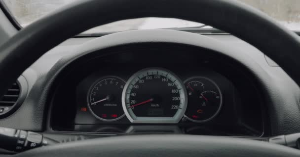 car dashboard while driving