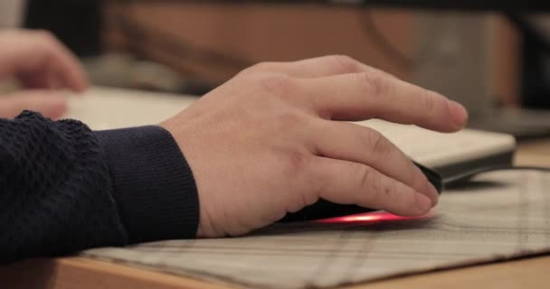 computer mouse in hand