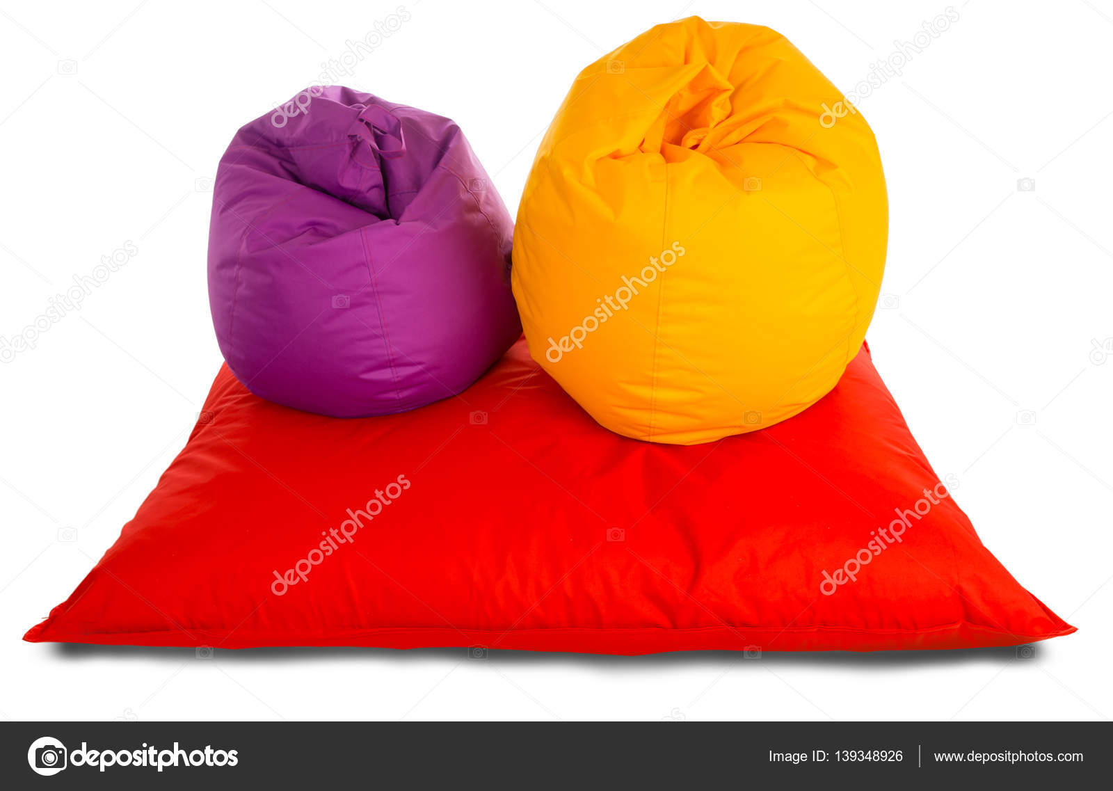Pleasing Purple And Yellow Beanbag Chairs On Red Beanbag Sofa Stock Andrewgaddart Wooden Chair Designs For Living Room Andrewgaddartcom