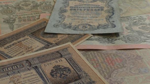 Staré ruské carské bankovky pádu
