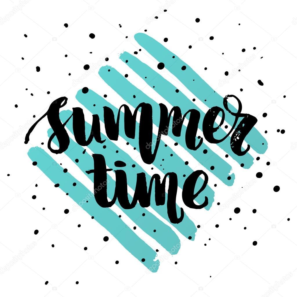 Sommerzeit-Schriftzug-Plakat — Stockvektor © wywenka #126392952