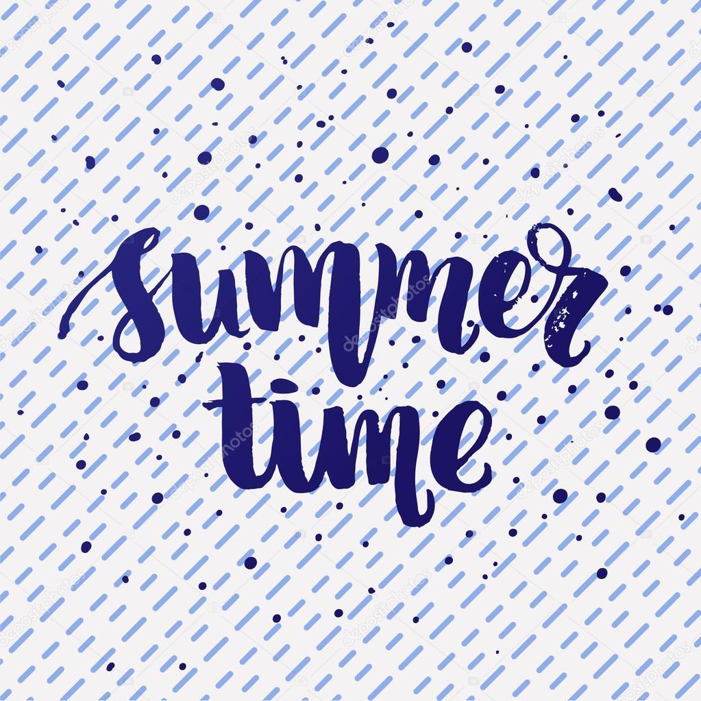 Sommerzeit-Schriftzug-Plakat — Stockvektor © wywenka #126394600