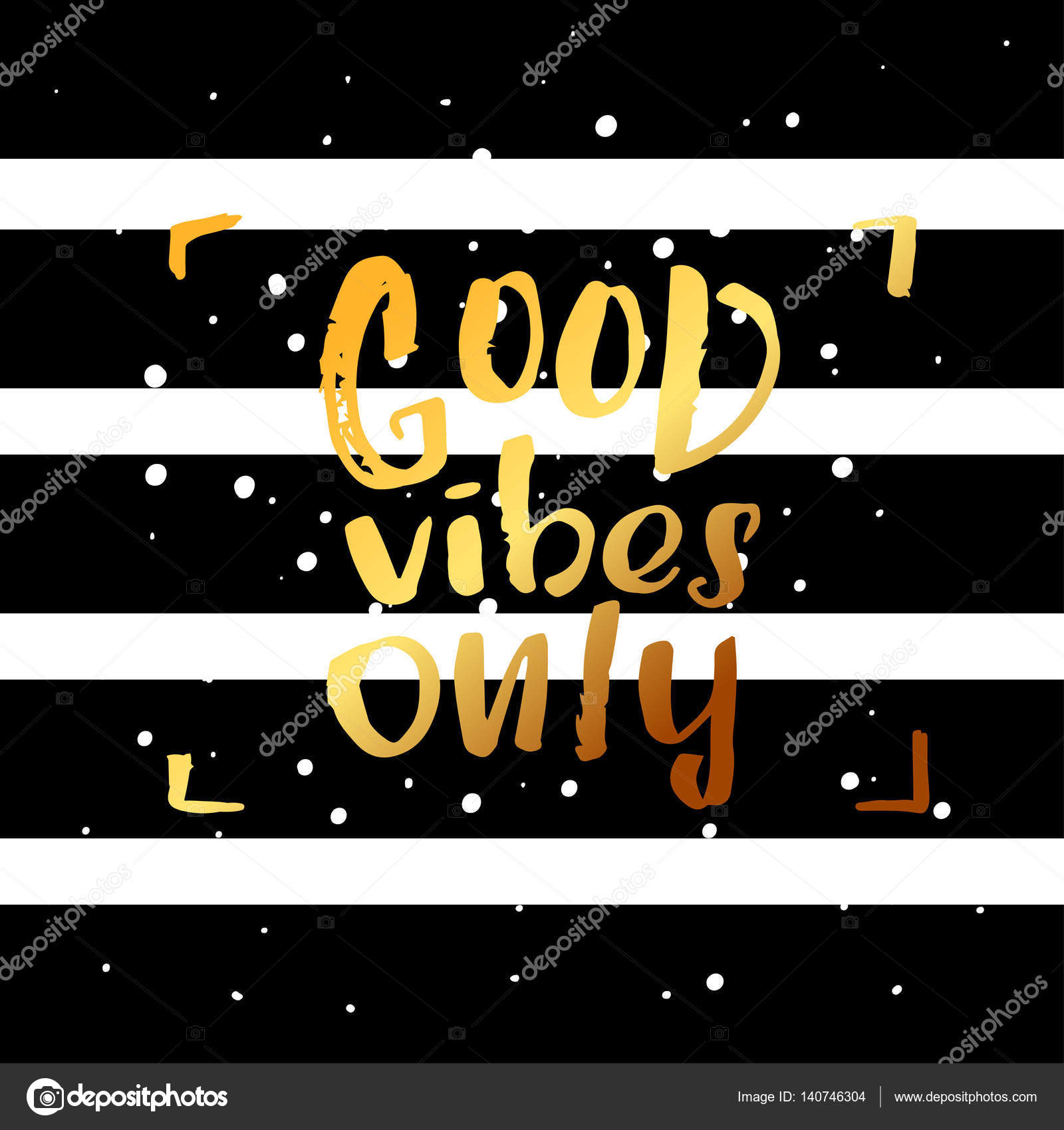 Hand Drawn Calligraphy Lettering Inspirational Quotes Good Vibes