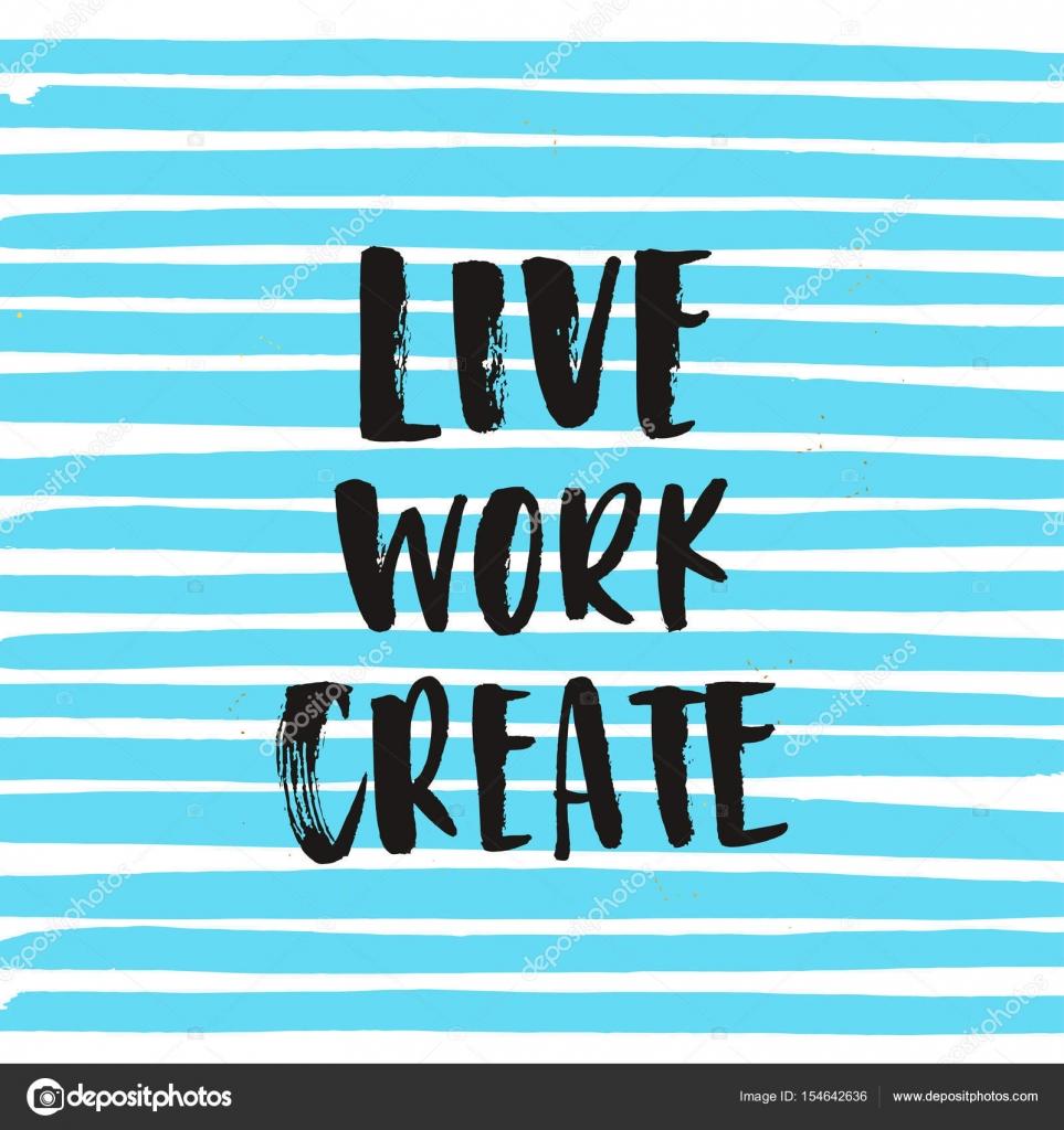 crear trabajo directo inspiracional — Vector de stock © wywenka ...