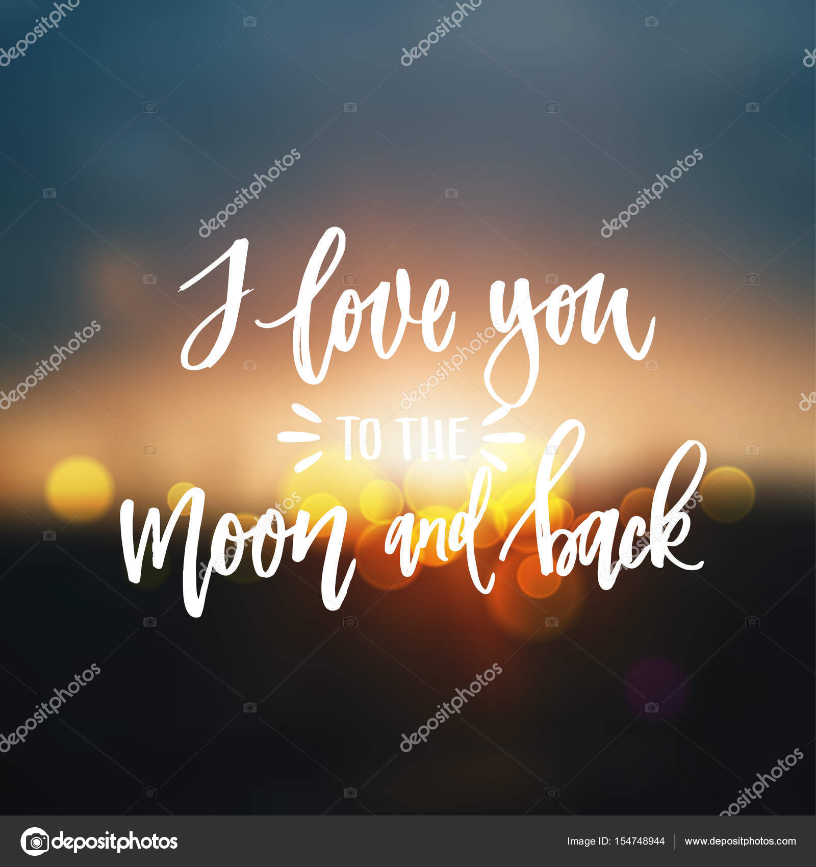 Fabelhaft Ich Liebe Dich Bis Zum Mond Galerie Von Und Zurück — Stockvektor