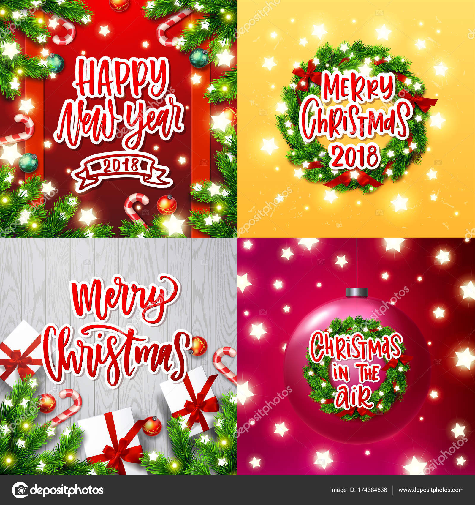 Frohe Weihnachten An Alle.Frohe Weihnachten Dekoration Grusskarten Kollektion Xmas