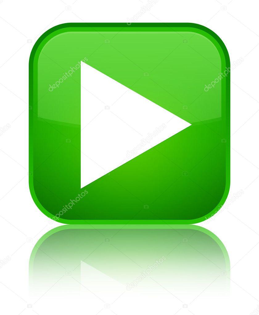 Juego icono bot n cuadrado verde brillante fotos de for Icono boton