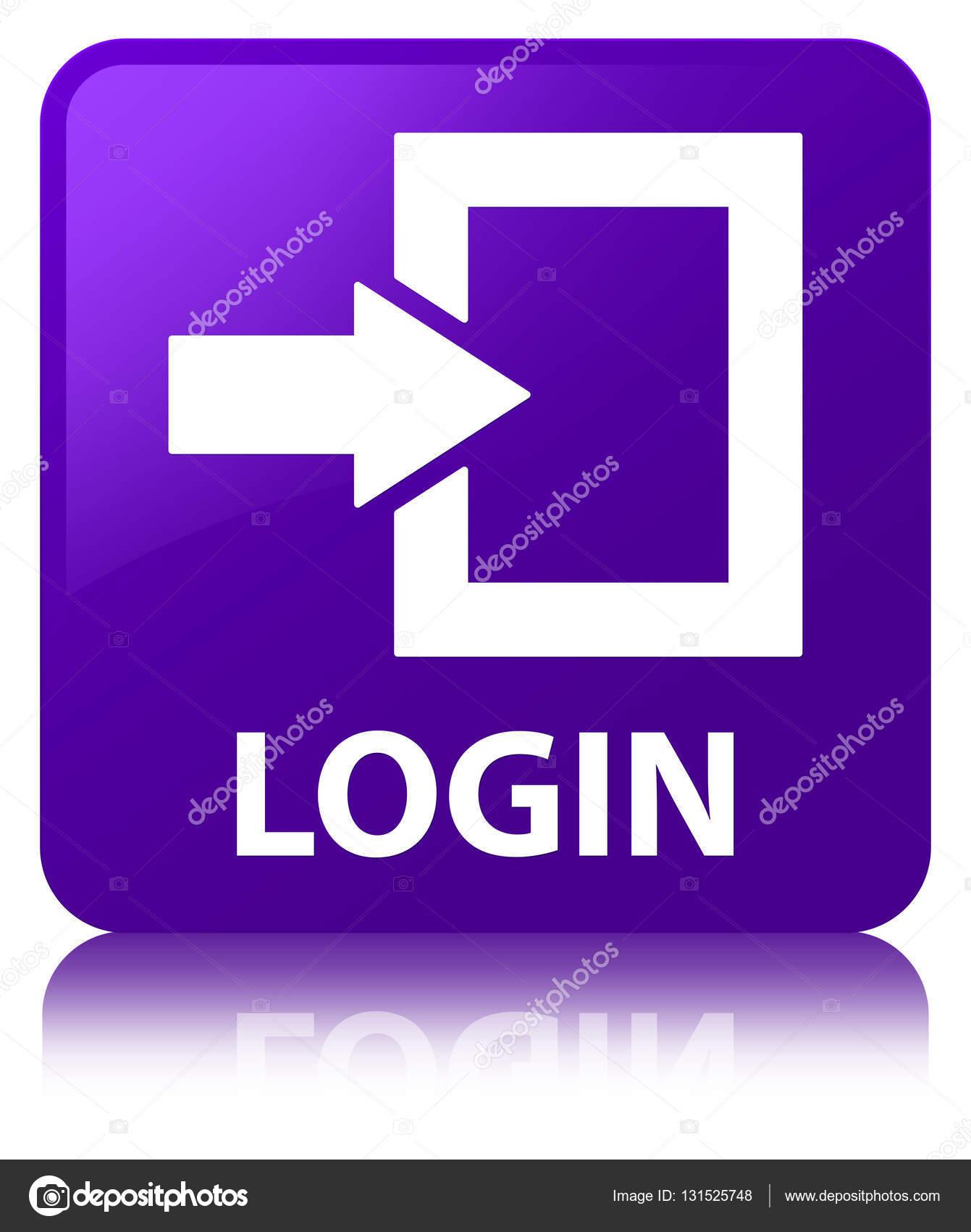 Login purple square button — Stock Photo © FR_Design #131525748