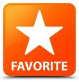 Čtvercové tlačítko oblíbené (ikonu hvězdičky) oranžové