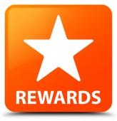 Čtvercové tlačítko odměny (ikonu hvězdičky) oranžové