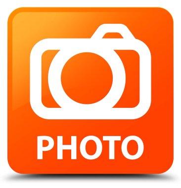 Photo (camera icon) orange square button