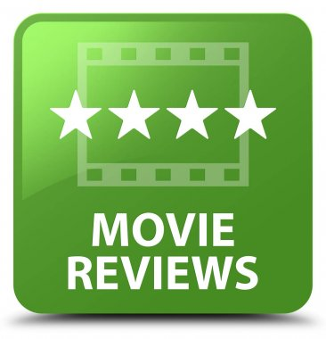 Movie reviews soft green square button