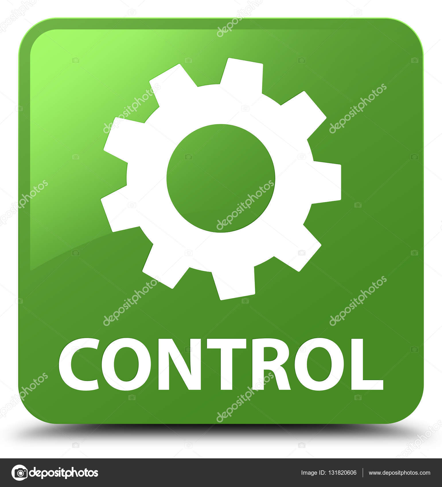 Control (settings icon) soft green square button ? Stock Photo ? FaysalAhamed #131820606