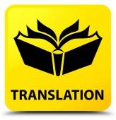 Čtvercové tlačítko překlad žlutá
