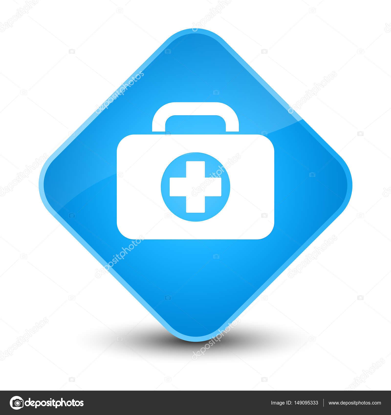 Kit Cyan Tasche Erste Hilfe Symbolschaltfläche Blue Elegante SUGqzMVp