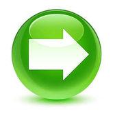 Következő nyíl ikon üveges zöld kerek gomb