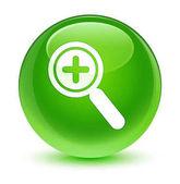 Ikona sklovité zelené kulaté tlačítko přiblížit
