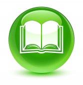 Kniha sklovité zelené kulaté tlačítko