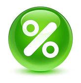 Sleva sklovité zelené kulaté tlačítko